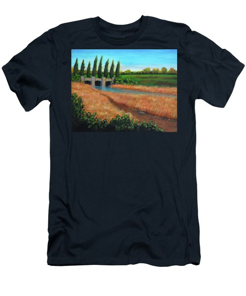 Mountain House In The Fall Men's T-Shirt (Athletic Fit)