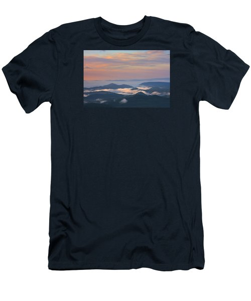 Men's T-Shirt (Athletic Fit) featuring the photograph Mountain Layer Sunrise by Ken Barrett