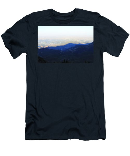 Men's T-Shirt (Slim Fit) featuring the photograph Mountain Shadow by Christin Brodie