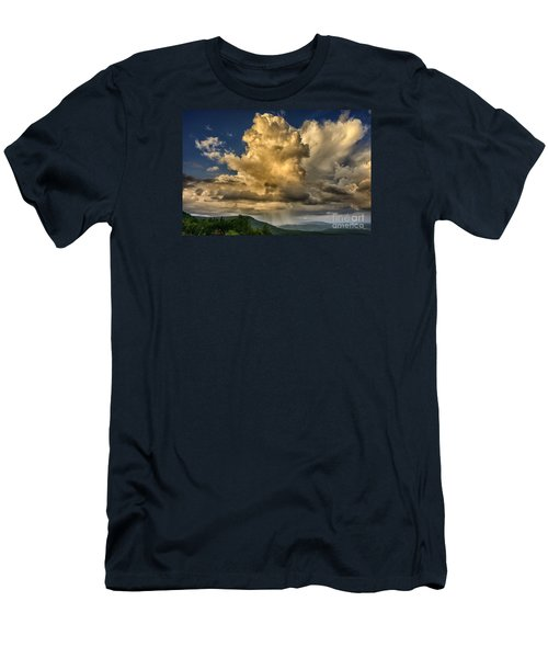 Mountain Shower And Storm Clouds Men's T-Shirt (Slim Fit) by Thomas R Fletcher