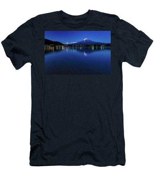 Mt Fuji - Blue Hour Men's T-Shirt (Athletic Fit)