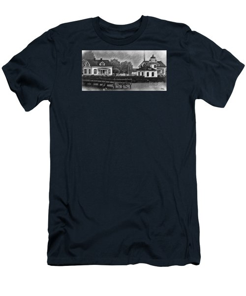 Mukilteo Lighthouse And The Dock Men's T-Shirt (Athletic Fit)