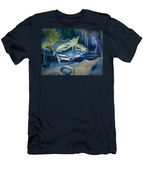 Men's T-Shirt (Slim Fit) featuring the painting Mural Skulls Of Lifes Past by Nancy Griswold