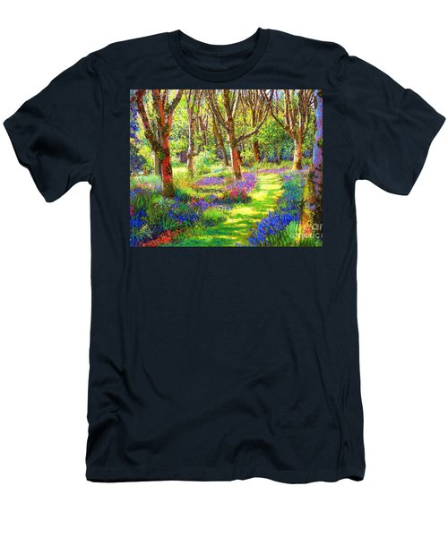 Men's T-Shirt (Slim Fit) featuring the painting Music Of Light, Bluebell Woods by Jane Small