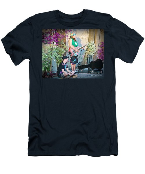 Music On The Side Men's T-Shirt (Slim Fit) by Judy Kay