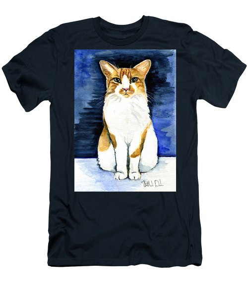 Mustached Bicolor Beauty - Cat Portrait Men's T-Shirt (Athletic Fit)