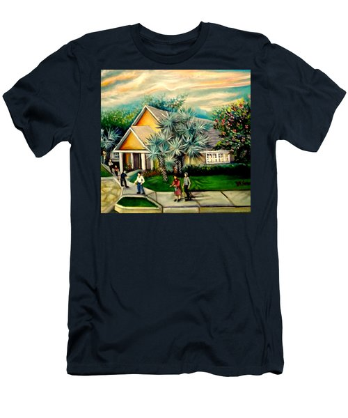 My Church Men's T-Shirt (Slim Fit) by Yolanda Rodriguez