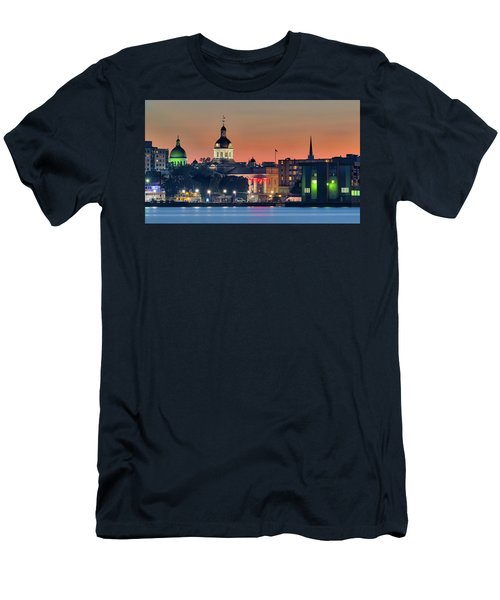 My Home Town At Night... Men's T-Shirt (Athletic Fit)