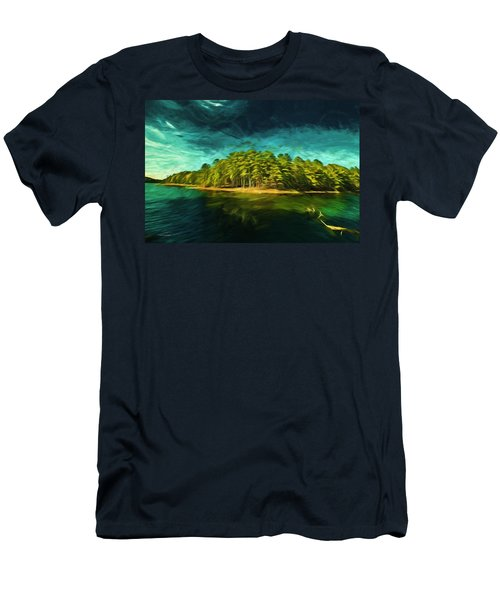 Mysterious Isle Men's T-Shirt (Athletic Fit)