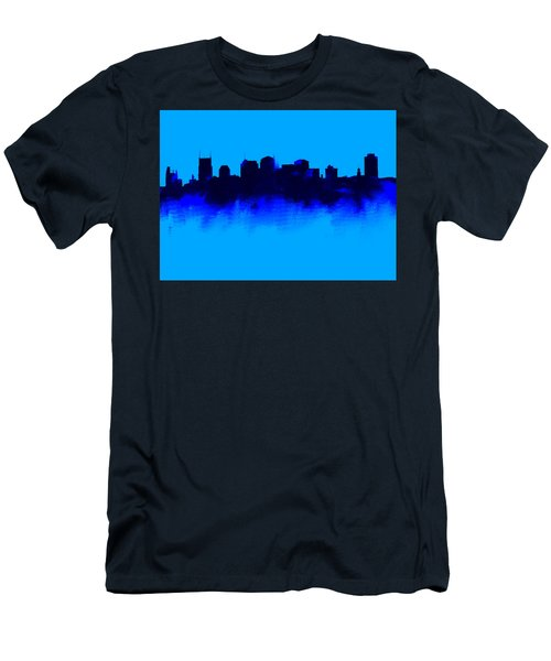 Nashville  Skyline Blue  Men's T-Shirt (Slim Fit) by Enki Art