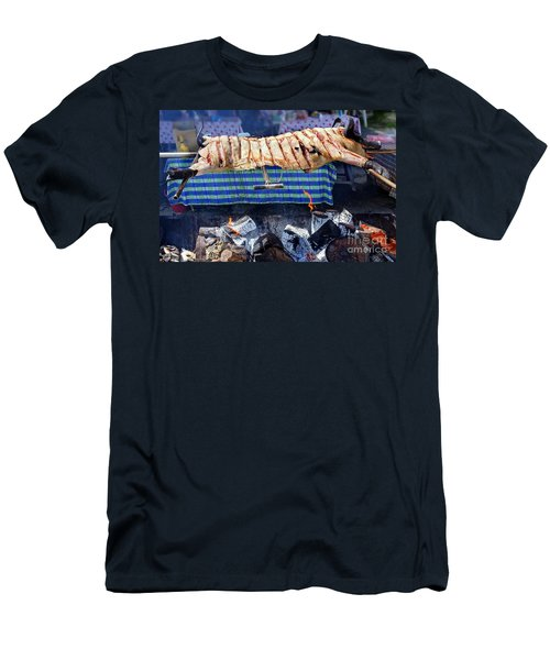 Men's T-Shirt (Slim Fit) featuring the photograph Native Barbecue In Taiwan by Yali Shi