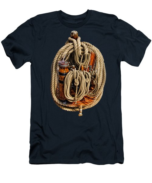 Nautical Knots 17 Oil Men's T-Shirt (Athletic Fit)