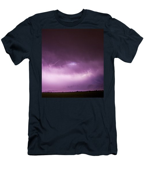 Nebraska Night Thunderstorms 013 Men's T-Shirt (Athletic Fit)