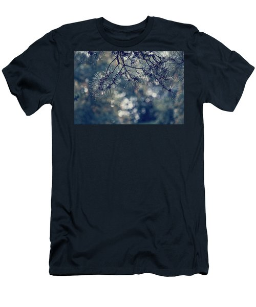Men's T-Shirt (Athletic Fit) featuring the photograph Needles N Droplets by Gene Garnace