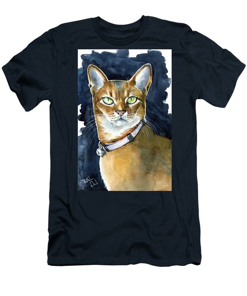 Nefertiti - Abyssinian Cat Portrait Men's T-Shirt (Athletic Fit)