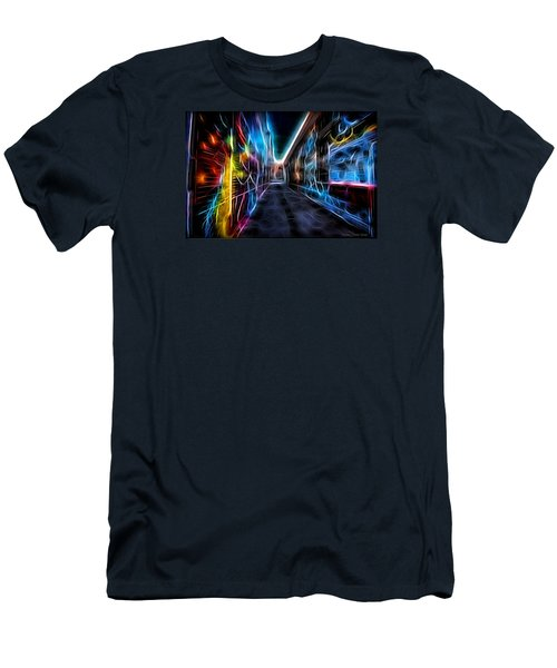 Neon Aleey Men's T-Shirt (Slim Fit) by Michaela Preston