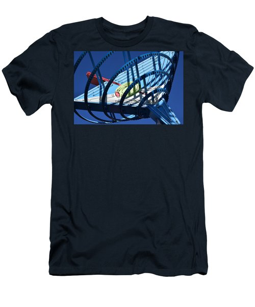 Neon Martini. Men's T-Shirt (Athletic Fit)