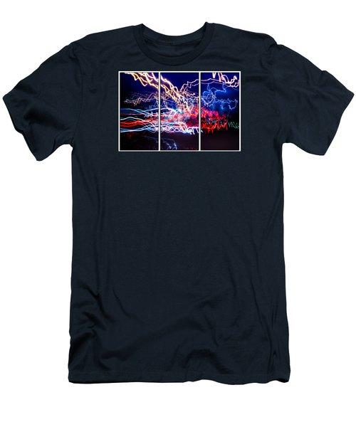 Neon Ufa Triptych Number 1 Men's T-Shirt (Athletic Fit)