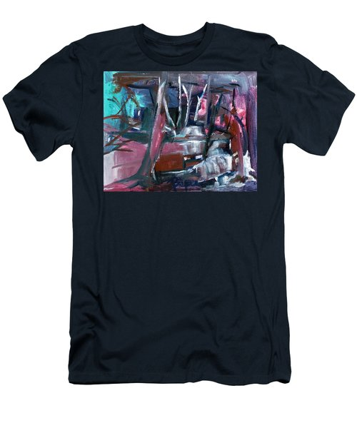 Never Dark In The Forest Men's T-Shirt (Slim Fit)