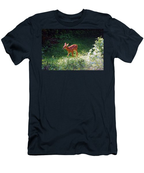 New Backyard Visitor Men's T-Shirt (Slim Fit) by Lori Tambakis