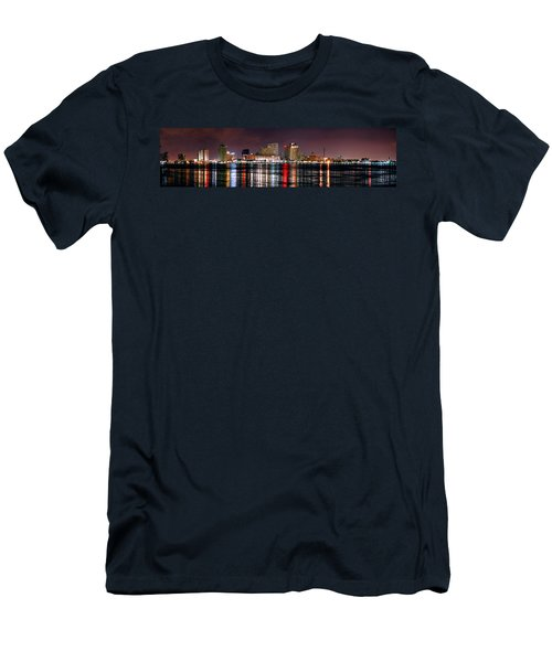 New Orleans Skyline At Night Men's T-Shirt (Athletic Fit)