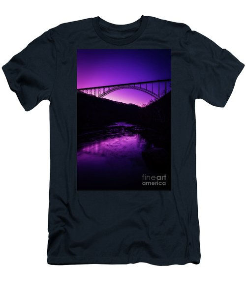 New River Gorge Bridge Afterglow Men's T-Shirt (Athletic Fit)