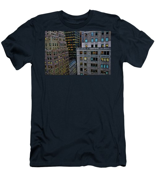 Men's T-Shirt (Athletic Fit) featuring the photograph New York Windows by Joan Reese