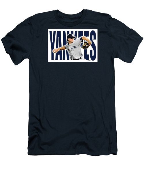 Men's T-Shirt (Slim Fit) featuring the digital art New York Yankees by Stephen Younts