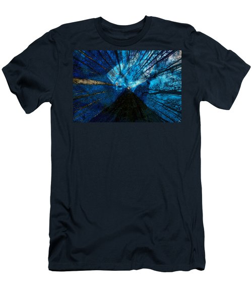 Men's T-Shirt (Slim Fit) featuring the painting Night Angel by David Lee Thompson