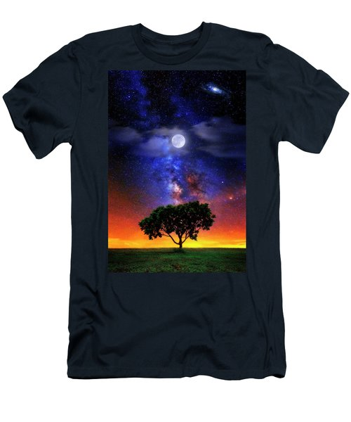 Night Colors Men's T-Shirt (Slim Fit) by Justin Kelefas