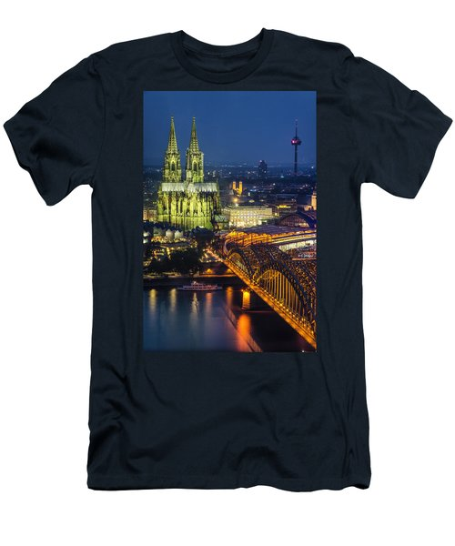 Night Falls Upon Cologne 1 Men's T-Shirt (Athletic Fit)