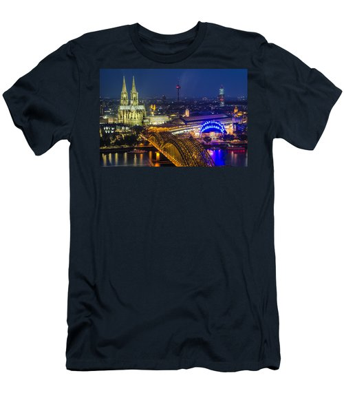 Night Falls Upon Cologne 2 Men's T-Shirt (Athletic Fit)