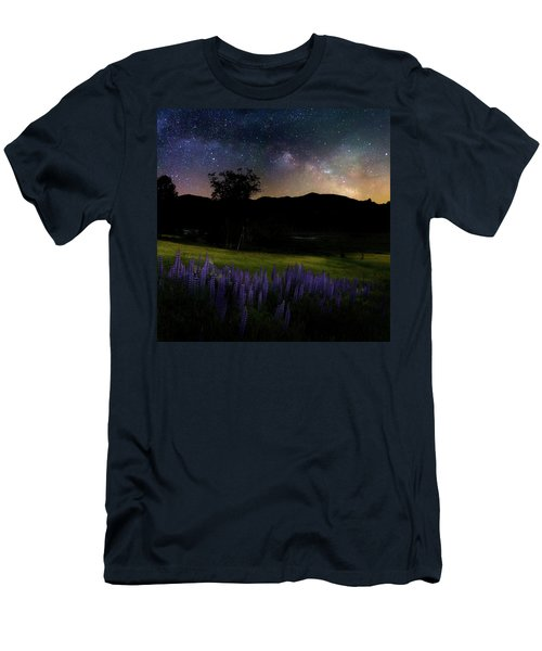 Men's T-Shirt (Slim Fit) featuring the photograph Night Flowers Square by Bill Wakeley