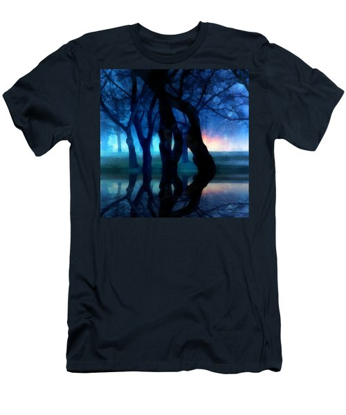 Night Fog In A City Park Men's T-Shirt (Athletic Fit)