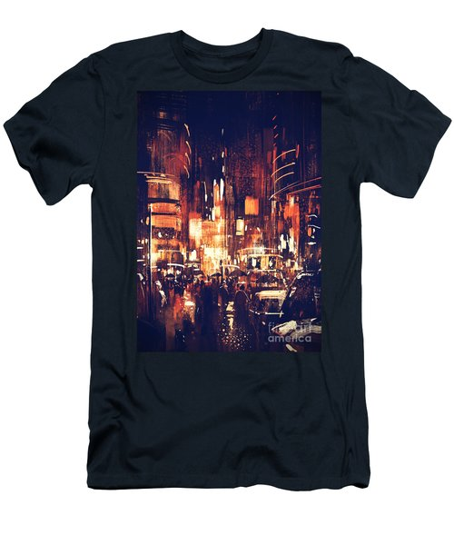 Night Life Men's T-Shirt (Athletic Fit)