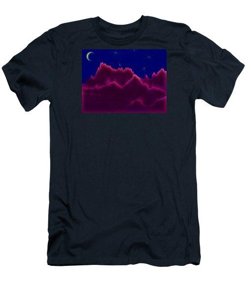 Men's T-Shirt (Slim Fit) featuring the digital art Night. Moon by Dr Loifer Vladimir