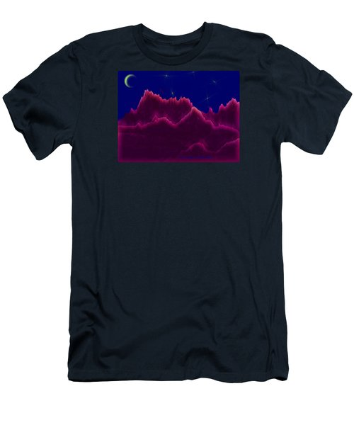 Night. Moon Men's T-Shirt (Athletic Fit)