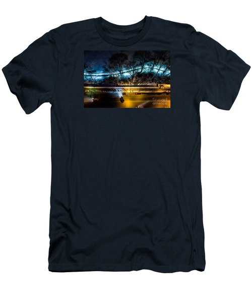 Men's T-Shirt (Slim Fit) featuring the photograph Central Park by M G Whittingham