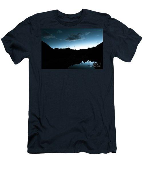 Night Sky Himalayas Tibet Yantra.lv Men's T-Shirt (Athletic Fit)