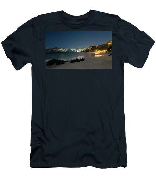 Men's T-Shirt (Slim Fit) featuring the photograph Night Walk On La Ropa by Jim Walls PhotoArtist