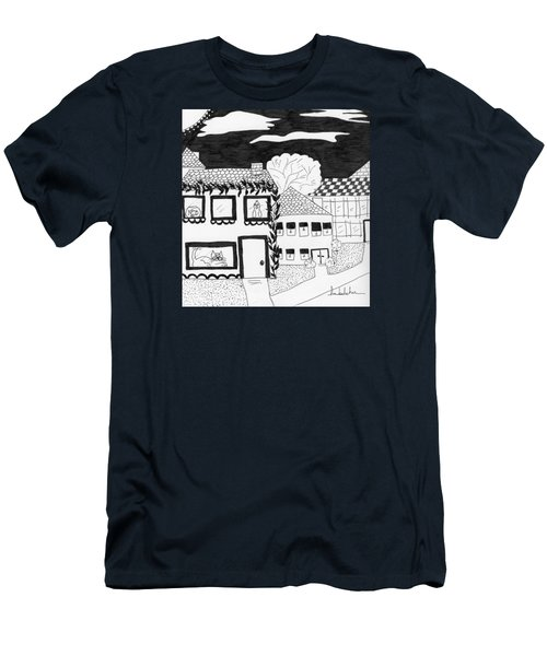 Men's T-Shirt (Slim Fit) featuring the painting Night Watch by Lou Belcher