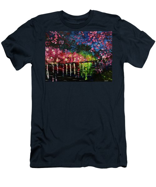 Nighttime Pink Men's T-Shirt (Athletic Fit)