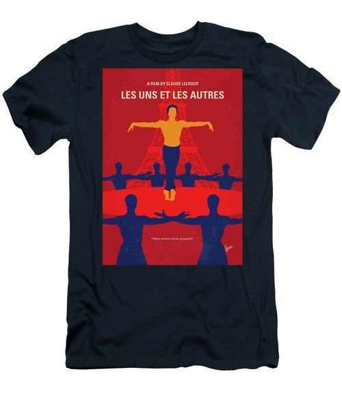 Men's T-Shirt (Slim Fit) featuring the digital art No771 My Les Uns Et Les Autres Minimal Movie Poster by Chungkong Art