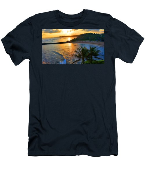North Shore Of Oahu  Men's T-Shirt (Slim Fit) by Michael Rucker