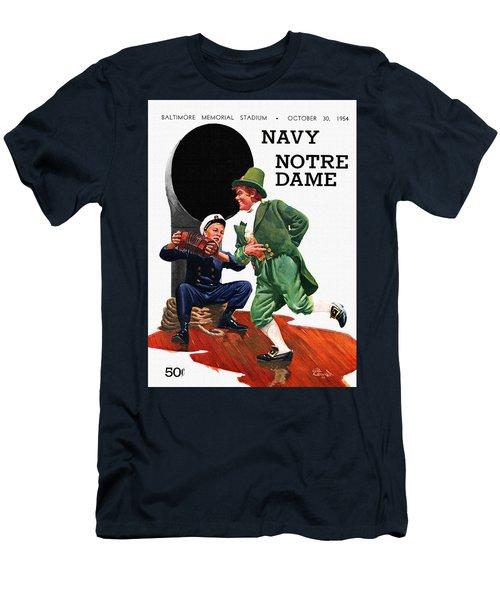 Notre Dame V Navy 1954 Vintage Program Men's T-Shirt (Athletic Fit)