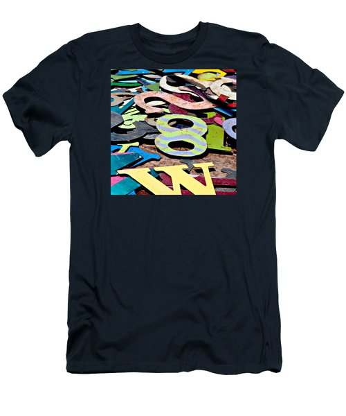Number 8 Men's T-Shirt (Slim Fit) by Art Block Collections
