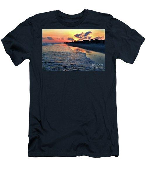 Oak Island Pastel Sunset Men's T-Shirt (Athletic Fit)