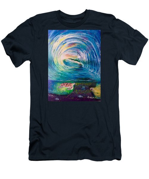 Men's T-Shirt (Slim Fit) featuring the painting Ocean Reef Beach by Dawn Harrell