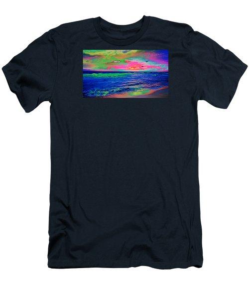 Ocean Sunset 2 Men's T-Shirt (Athletic Fit)