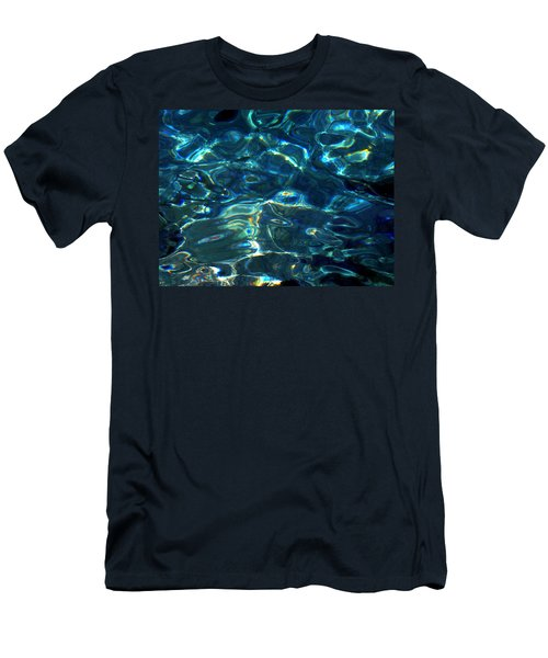 Ocean Water Reflections Island Santorini Greece Men's T-Shirt (Athletic Fit)